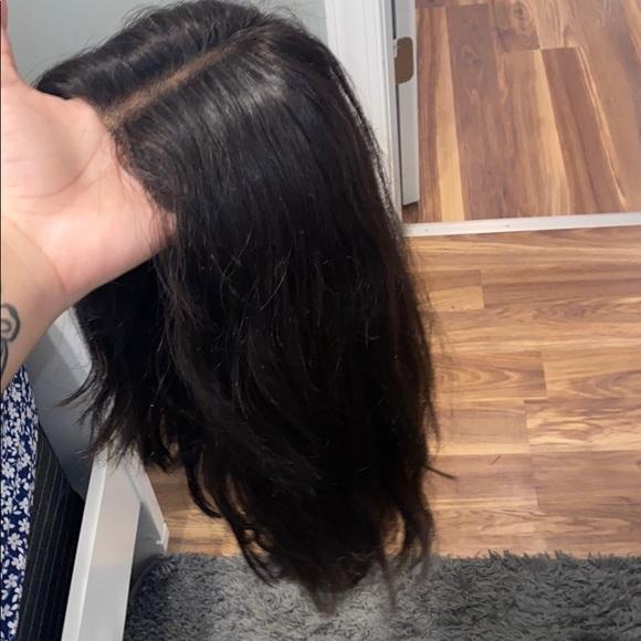 100% HUMAN HAIR LAYERED BROWN 1x13 WIG